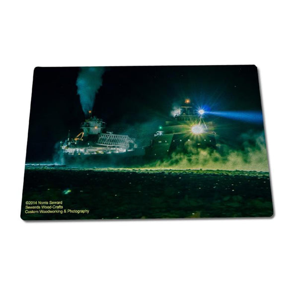 Glass Cutting Boards Ship Arthur M Anderson Great Lakes Freighters Gifts For Boat Nerds