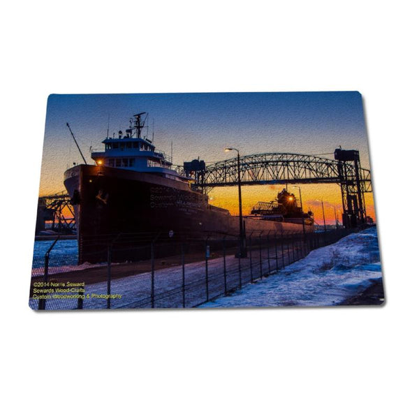 Glass Cutting Boards Ship Lee A Tregurtha Great Lake Freighter Gifts For Boat Fans