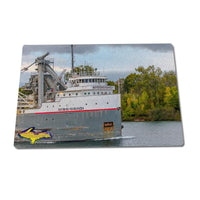 Glass Cutting Boards Ship Mississagi Great lake freighter gifts for Boat Fans
