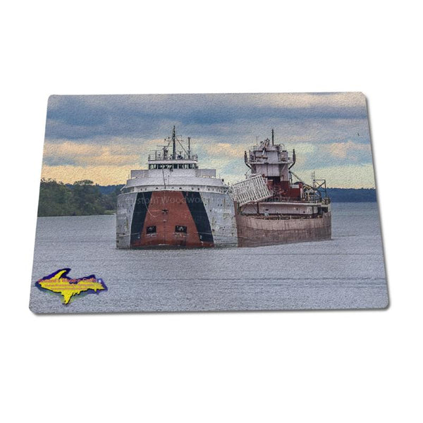 Glass Cutting Boards Ship Philip Clark Gifts For Great Lakes Fleet Boat Fans