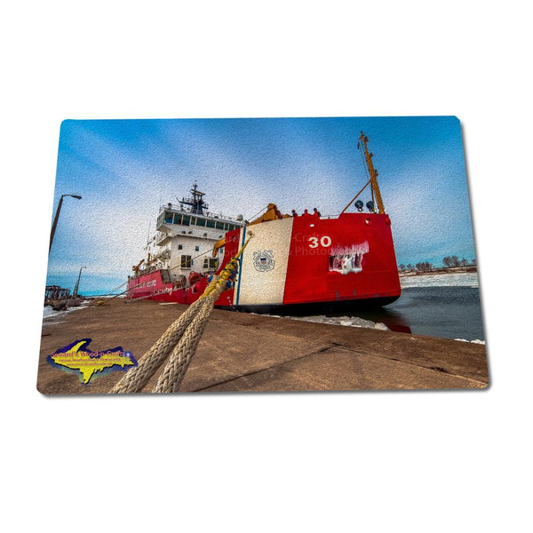 Glass Cutting Boards Ship USCG Cutter Mackinaw Gifts For Great Lakes United States Coast Guard