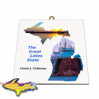 Cason Callaway Photo Tile Great Lake Freighters Gifts for all boat fans