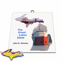 John Munson Photo Tile Michigan Theme Gifts for boatnerd fans