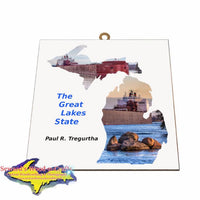 Paul Tregurtha Photo Tile Michigan Theme Gifts for boatnerd fans