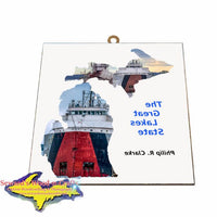 Philip Clark Photo Tile Michigan Theme Gifts for boatnerd fans