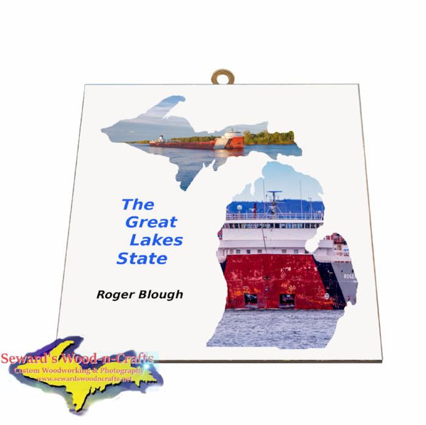 Roger Blough Photo Tile Michigan Theme Gifts for boatnerd fans