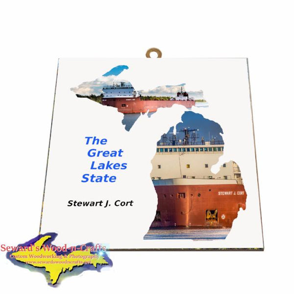 Stewart J Cort Photo Tile Great Lake Freighters Gifts & Collectibles for all boat fans