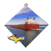 Edwin H Gott Great Lake freighter wall art for boat fans