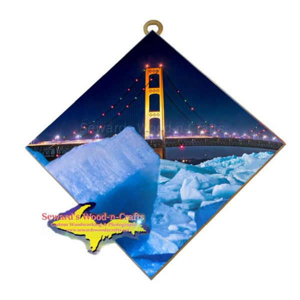 Mackinac Bridge Blue Ice Wall Art Michigan Made Little Gifts