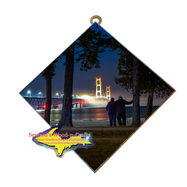 Hanging Tile ~ Mackinac Bridge -0003   Michigan Gifts