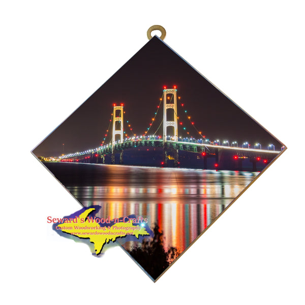 Hanging Tile ~ Mackinac Bridge -3813   Michigan Wall Art