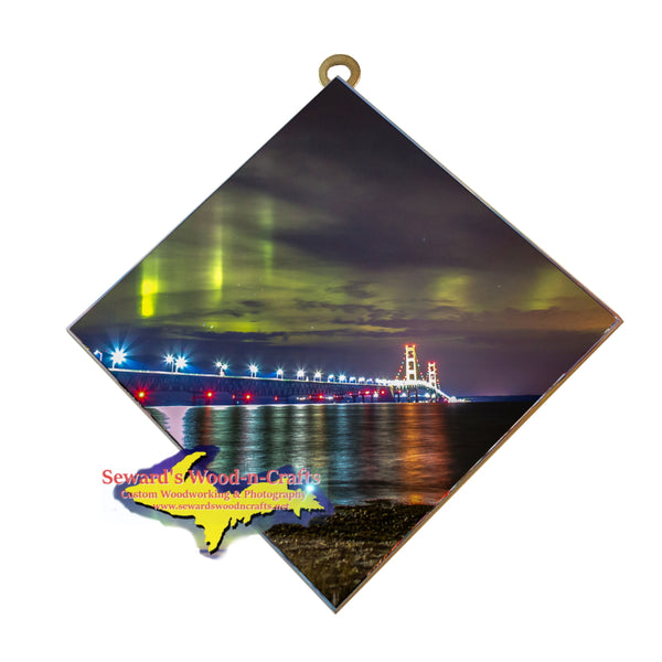 Hanging Tile Bridge Mackinac Northern Lights -3833