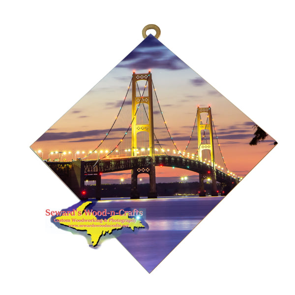 Hanging Tile ~ Mackinac Bridge -8717  Michigan Wall Art