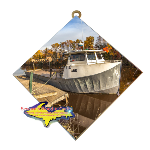 home decor art of fishing boat in the Eastern Upper Peninsula Michigan