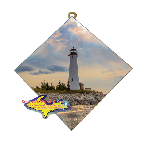 Hanging Tile ~ Lighthouse Crisp Point -6978  Michigan Unique Gifts