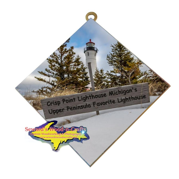 Michigan Made Wall Art Crisp Point Michigan's Upper Peninsula Favorite Lighthouse