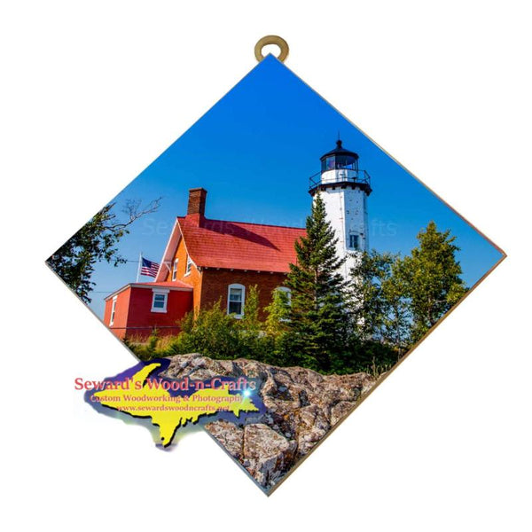 Eagle Harbor Lighthouse Photo Tile Great Yooper Gifts from Michigan's Upper Peninsula