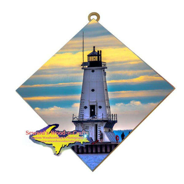 Ludington Lighthouse, Michigan Made Wall Art Affordable Little Gifts From Michigan