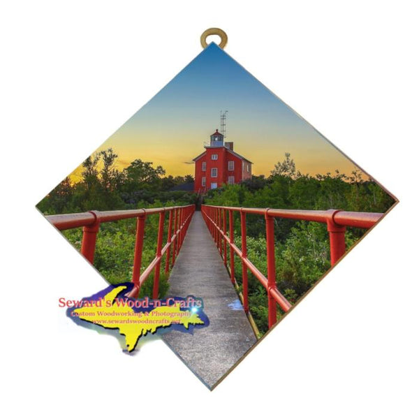Marquette Lower Harbor Ore Dock hanging Michigan Made artwork Yooper Gifts