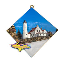 Best Made In Michigan Gifts Point Iroquois Lighthouse Photo Tile Wall Art