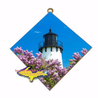 Iroquois Point Lighthouse photo tile Yooper Gifts!