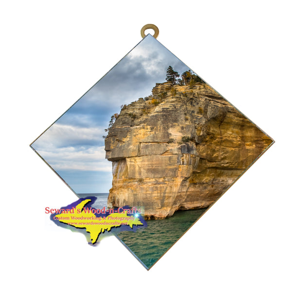 Pictured Rocks Indian Head On Lake Superior Wall Art Home Interior Decor