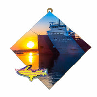 Cason J. Callaway Great Lake Freighter Wall Art Tile