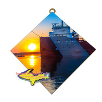 Great Lakes Freighter Cason J. Callaway Wall Art for Boat Nerds