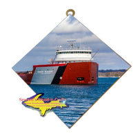 Michigan Art Great Lake Freighter Roger Blough Hanging Tiles Home Office Decor