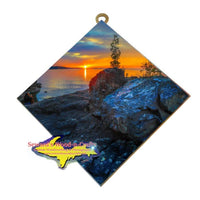 Presque Isle Sunset Black Rocks Marquette, Michigan Made U.P. Artwork
