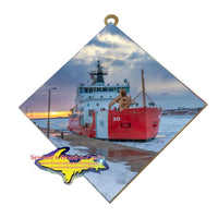 Michigan Made Wall Art United States Coast Guard Cutter Mackinaw. Great Gifts for Coast Guard Family and Friends
