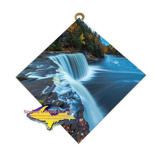 Upper Tahquamenon Waterfalls Michigan's Upper Peninsula Art Tile Best Michigan Made Gifts For Everyone