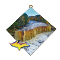 Upper Tahquamenon Waterfalls Michigan's Upper Peninsula Art Tile Best Michigan Made gifts for all occasions
