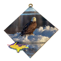 Michigan Made Wall Art Wildlife Photography Bald Eagle Hanging Art Tile