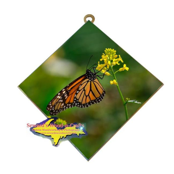 Michigan Wildlife Photography Monarch Butterfly Hanging Art Tile Nature & Wildlife Gifts