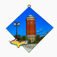 Manistique Historical Water Tower Michigan's Upper Peninsula Hanging Art