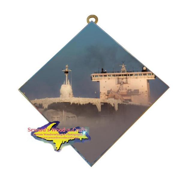 Great Lakes Freighter Gifts Burns Harbor Wall Art Photo Tile For Boat Lovers