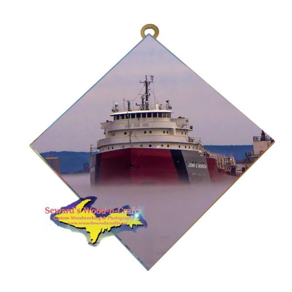 Great Lakes Freighter John Munson Wall Art Photo Tiles For Boat Lovers