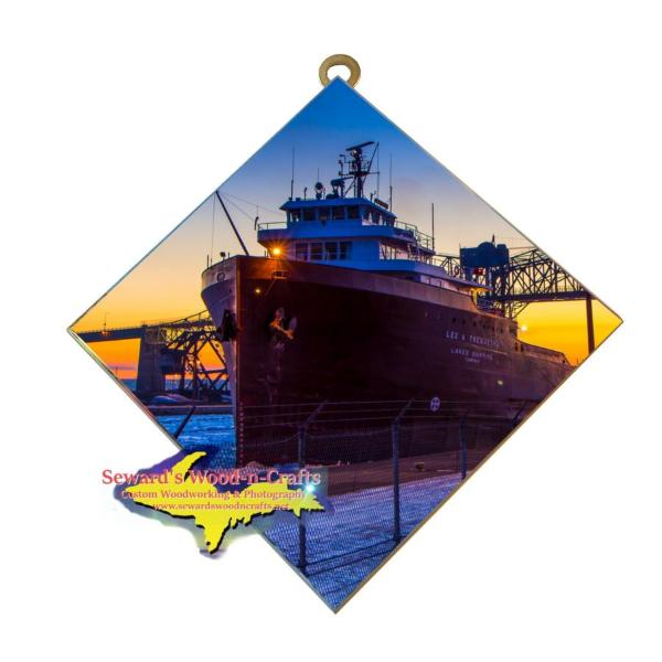 Great Lakes Freighter Lee Tregurtha Wall Art Photo Tiles For Boat Fans