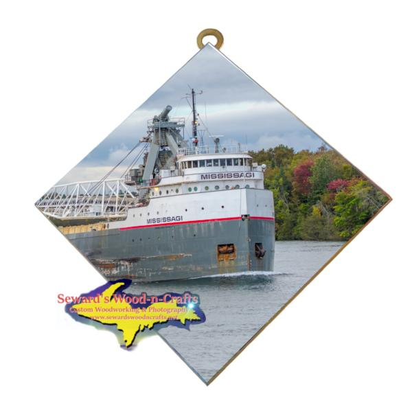 Great Lakes Freighter Lee Mississagi Wall Art Photo Tiles For Boat Fans