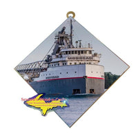 Great Lakes Freighter Lee Mississagi Photo Tiles For Boat Fans