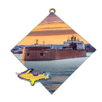 Great Lakes Freighter Paul Tregurtha Wall Art Photo Tiles For Boat Fans
