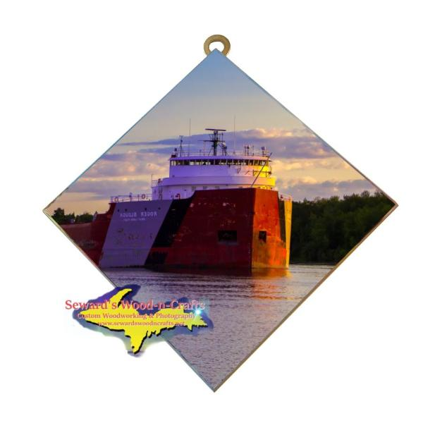 Roger Blough Photo Tile Great Lake Freighter Gifts For Boat Fans