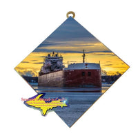 Great Lakes Freighter Gifts Rt. Hon. Paul J. Martin Wall Art Photo Tile For Boat Lovers