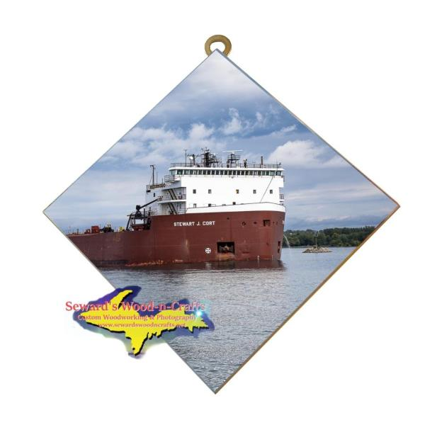 Great Lakes Freighter Stewart Cort Wall Art Photo Tiles For Boat Fans