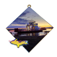 Sugar Island Ferry Photo Tile Great Gifts For Sugar Island, Michigan