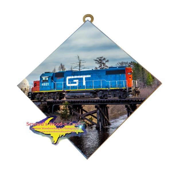 Train Engine GT -9870 Photo Tile Gifts For Train Lovers