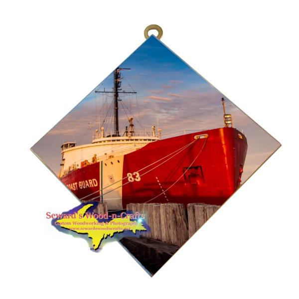 USCG 83 Mackinaw Photo Tile Wall Art For United States Coast Guard family and Friends.