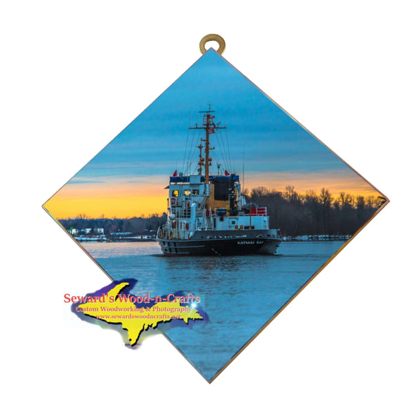 USCG Katmai Bay Sunrise Wall Art. Unique Great Lakes United States Coast Guard Photos Gifts & Collectibles