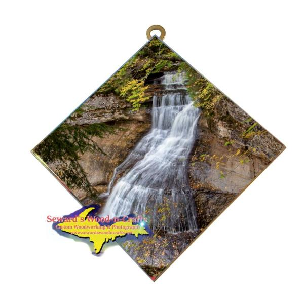 Chapel Falls Pictured Rocks Michigan's Upper Peninsula Hanging Photo Tiles For Sale